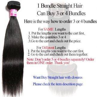 Brazilian Straight Hair Weave Bundles Can Buy 3 Or 4 Bundles Human Hair Bundles SAYME Hair Extensions 1 PC Non Remy