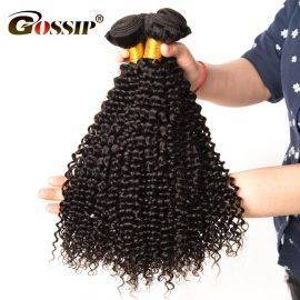 Afro Kinky Curly Hair Brazilian Hair Weave Bundles Gossip 100% Human Hair Bundles One Piece Double Weft Hair Extensions Non Remy
