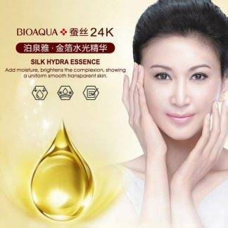 Bioaqua 24k Gold Foil Skin Care Brand Hyaluronic Acid Liquid Moisturizing Anti Wrinkle Anti Aging Collagen Essence Cream 10ml