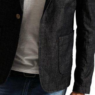 SIMWOOD 2018 New spring Casual Thin Blazer design Men Suits Fashion Jacket Slim Fit 100% Pure Cotton Plus Size XZ6113