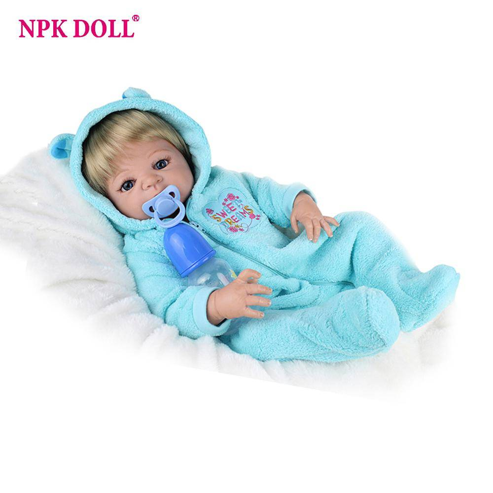 NPKDOLL 22inches Reborn Baby Doll Bebe Reborn Full Body Silicone American Boy Dolls Children Toys Gift