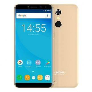 Oukitel C8 5.5 Inch 18:9 HD Screen Mobile Phone MTK6580A Quad Core 2GB RAM 16GB ROM 13MP Android 7.0 3000mAh Touch ID Cellphone