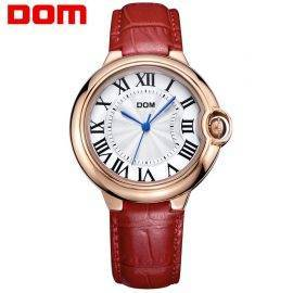 Watch Women DOM brand luxury Fashion Casual quartz watches leather sport Lady relojes mujer women wristwatches Girl Dress 1068