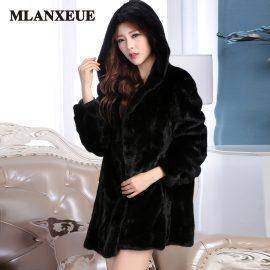 Winter New Imitation Fox Fur Coat Mink Middle East Luxury Women Long Coat Faux Fur Coat Women Large Size Casaco Feminino