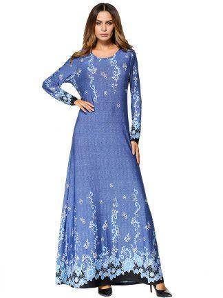 Muslim Maxi Dress Knitted Cotton Abaya Middle East Long Robe Gowns Moroccan Dubai Ramadan Arab Worship Islamic Paryer Clothing