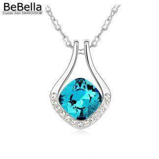 BeBella fashion padparadscha pendant necklace Made with Austrian crystals from Swarovski for women gift