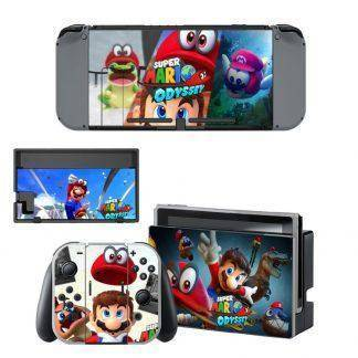 For Super Mario Odyssey Skin Sticker Decal For Nintendo Switch Console and Controller for NS Protector Cover Skin Sticker Vinyl