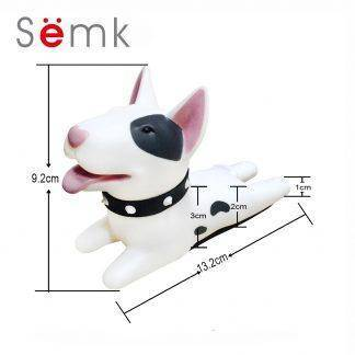 Semk Cute Cartoon Dog Door Stopper Holder Bull Terrier PVC safety for baby Home decoration Dog Anime Figures Toys for Children