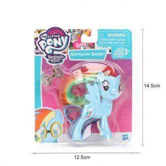 My Little Pony Toys Friendship is Magic Rainbow Dash Pinkie Pie Lyra Heartstring Rarity PVC Action Figure Collectible Model Doll