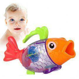 Hot Sale Cute Bathing Toy Sprinkler Shower Measure Temperature Discoloration Fish Kids Children Swim Bath Toys