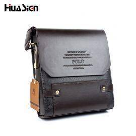 2018 Hot Sale Men Bag Composite Leather Solid Men Messenger Bag casual business Crossbody vintage fashion mens cross body bag L4
