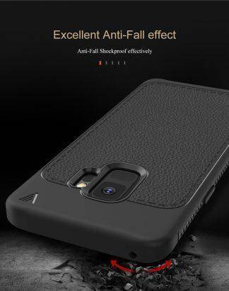For Samsung Galaxy S9 S9plus S9+ Lenuo Leather Texture Case Silicon Soft Back Cover For Samsung Galaxy S9 Plus Phone Bag Cases