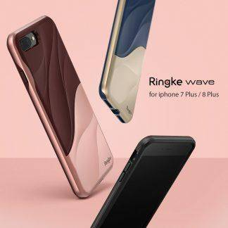 Ringke Wave Case for iPhone 8 Plus / iPhone 7 Plus Dual Layer Heavy Duty Textured Drop Resistant Phone Cases