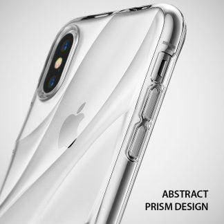 Ringke Flow Case for iPhone X Minimalist Wavy Textured Fitting Lightweight Drop Resistant Protection Transparent Design Cover