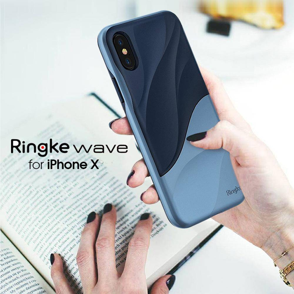 Ringke Wave for iPhone X Case Ergonomic Design Dual Layer Heavy Duty Protection Cover Soft Silicone and Hard PC Cover