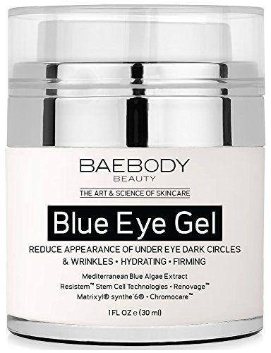 Baebody BLUE Eye Gel for Dark Circles Wrinkles w Mediterranean Blue Algae