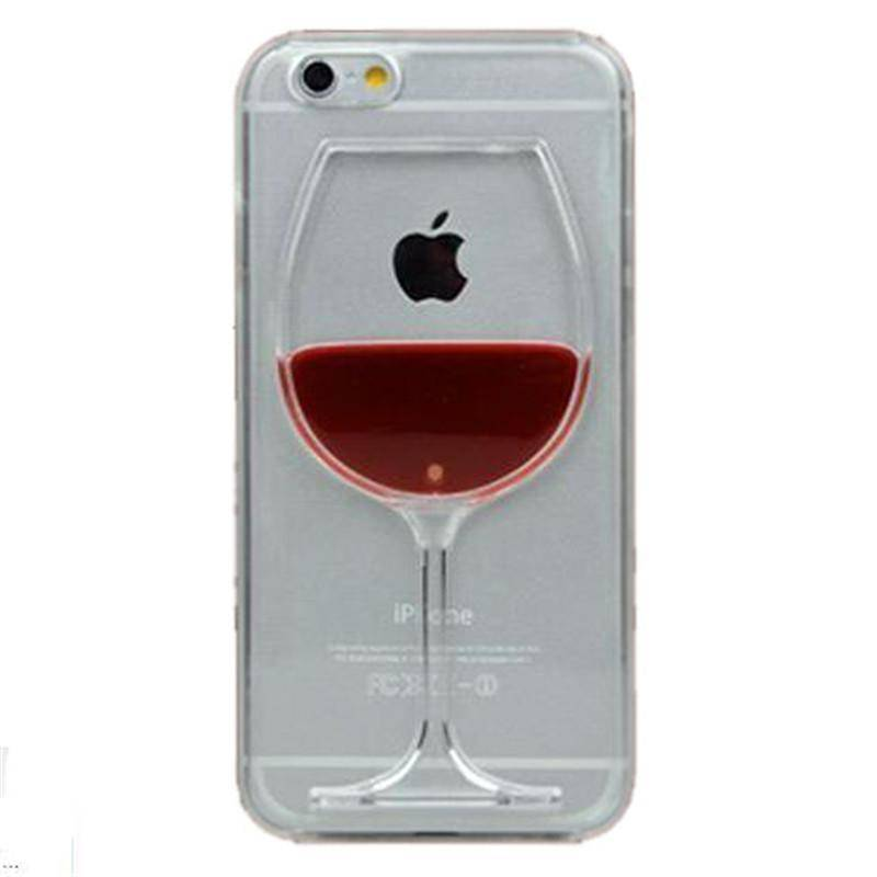 For iphone 7 case red Wine Cup Liquid Transparent Case For Apple iPhone 7 7 plus 6 6S plus 5 5S 8 4 4S Phone Cases Back Covers