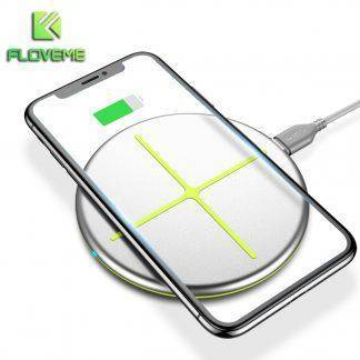 For iPhone Wireless Charger Pad FLOVEME For Samsung Wireless Charger QI S7 S8 Phone Charger For Apple Phone Adapter Accessories