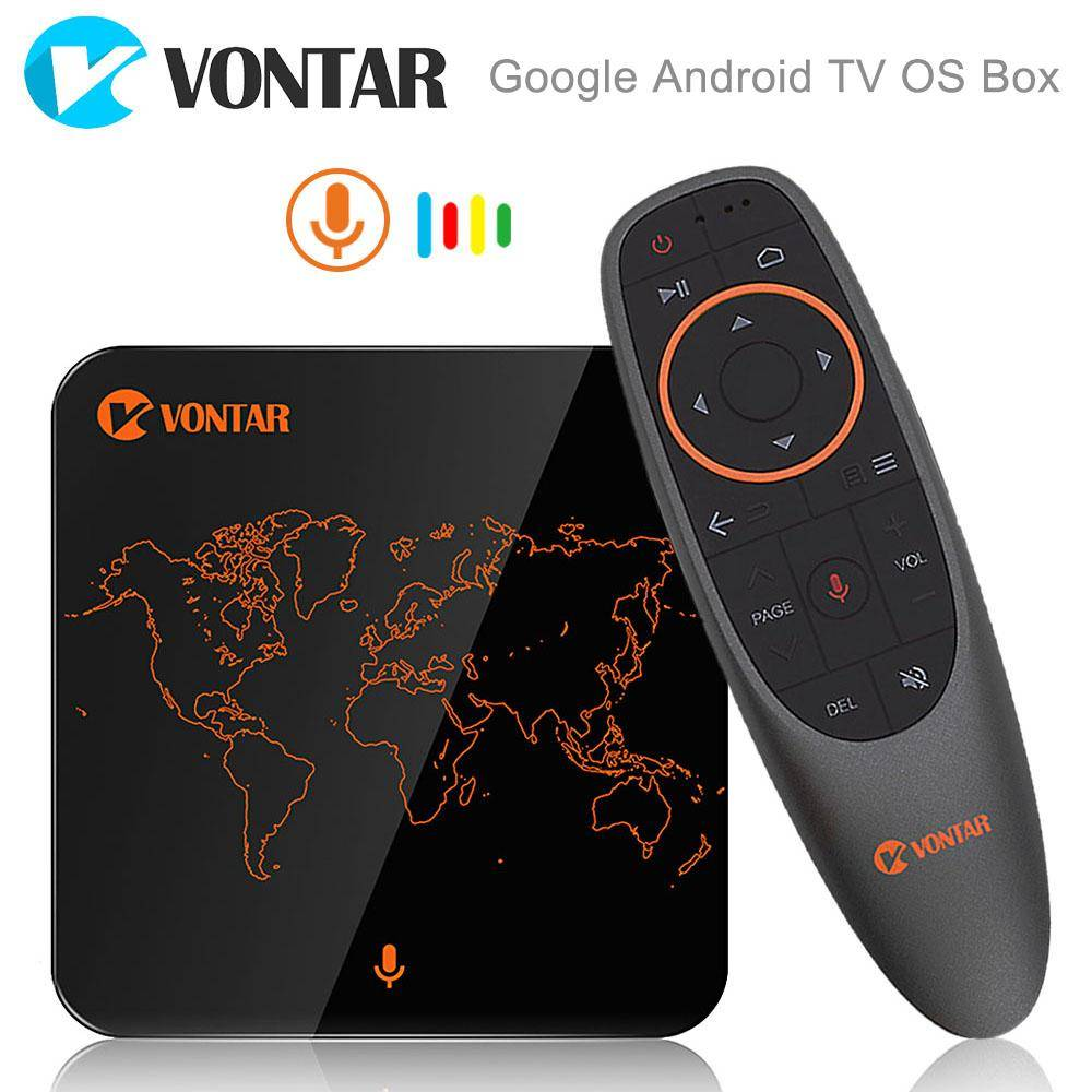 Google Voice Control Android TV 7.1 OS Amlogic S905W 2GB16GB Streaming Box Google Player Store Netflix Youtube Stalker VONTAR V1