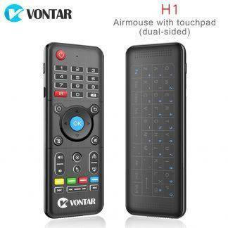 VONTAR 2.4GHz H1 Wireless Air mouse mini keyboard Remote Control Standard or Backlit Full Touchpad for PC Android TV Box with IR
