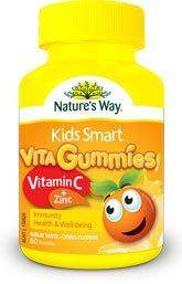 Nature's Way Kids Smart Vita Gummies Vitamin C+ Zinc 60 Gummies for Immune Support, Health, Well-being