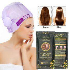 Automatic Heating Steam Hair Mask Keratin Argan Oil Treatment Hair Coarse , Dry , Split Ends
