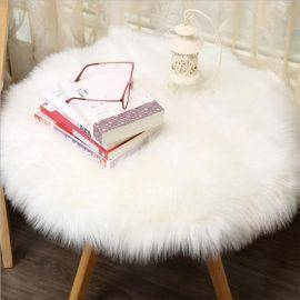 Soft Artificial Sheepskin Rug Chair Cover Artificial Wool Warm And Cozy Hairy Carpet Seat Pad Hot Sale C0129