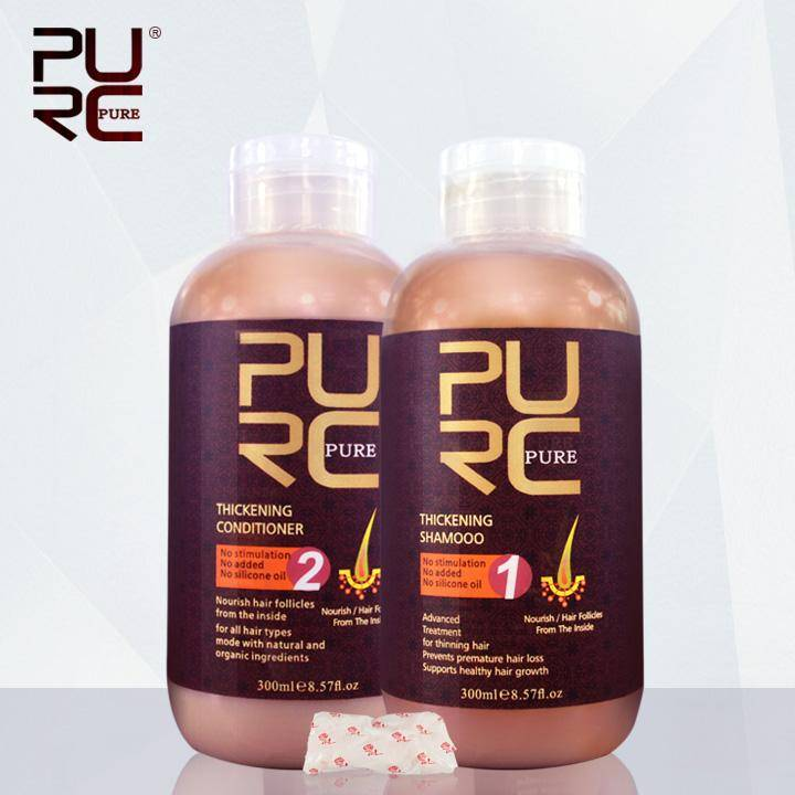 PURE Thickening hair shampoo and conditioner for hair loss prevents premature hair loss and thinning hair for men and women