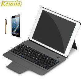 kemile Ultra Slim Bluetooth Keyboard For New iPad 2017 2018 9.7 W Stand Leather Case Cover For iPad Pro 9.7 tablet Keypad klavye