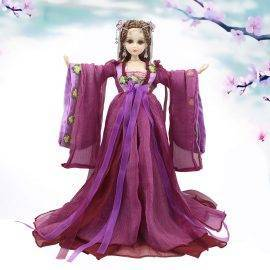 Fortune days doll East Charm Chinese style bjd body including clothes stand and box 35cm purple suit headdress souvenir toy gift
