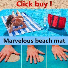 Brand sand-free beach mat blue/green/red