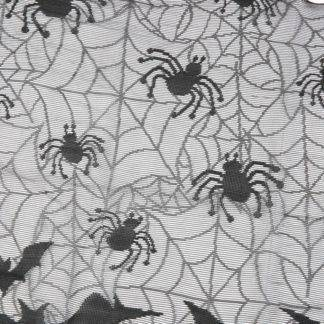 Halloween Decoration Lovely Lace Spiderweb Fireplace Mantle Scarf Cover Curtains Shades Festive Party Supplies