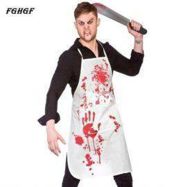 Halloween Adult Bloody Butcher Role Play Blood Aprons Horror Dress Up Party Props Popular