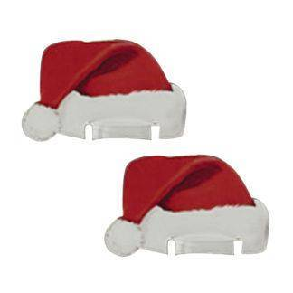 Nice Christmas Decorations For Home 10pcs Table Place Cards Christmas Santa Hat Wine Glass Decoration