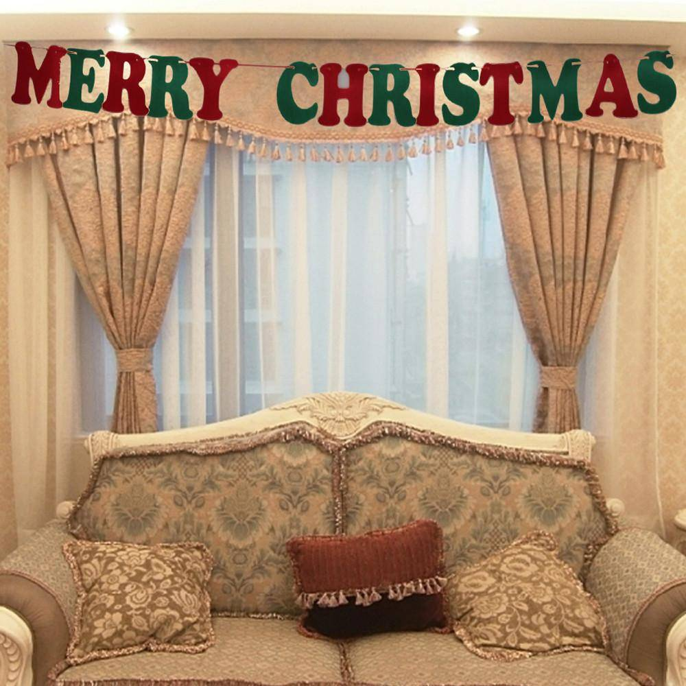 Merry Christmas Christmas Hanging Decoration Home Bunting Banner Garland Props decoracao de natal