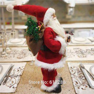 Christmas gifts Dearsun brand hot decoration 1pc Santa Claus standing figure amazing excellent quality handicraft