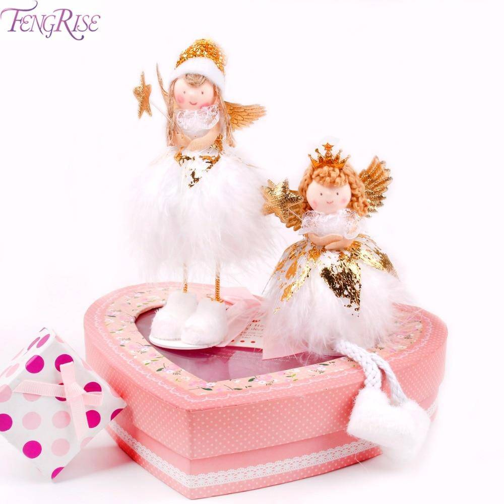 FENGRISE Christmas Doll Angel Toy New Year Gifts for Kids Christmas Decoration for Home Christmas Tree Decor Xmas Table Decor