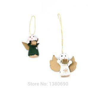 Christmas Tree Decoration Wooden Christmas Tree Small Doll Pendant Christmas Crafts Gift Set Gift Box