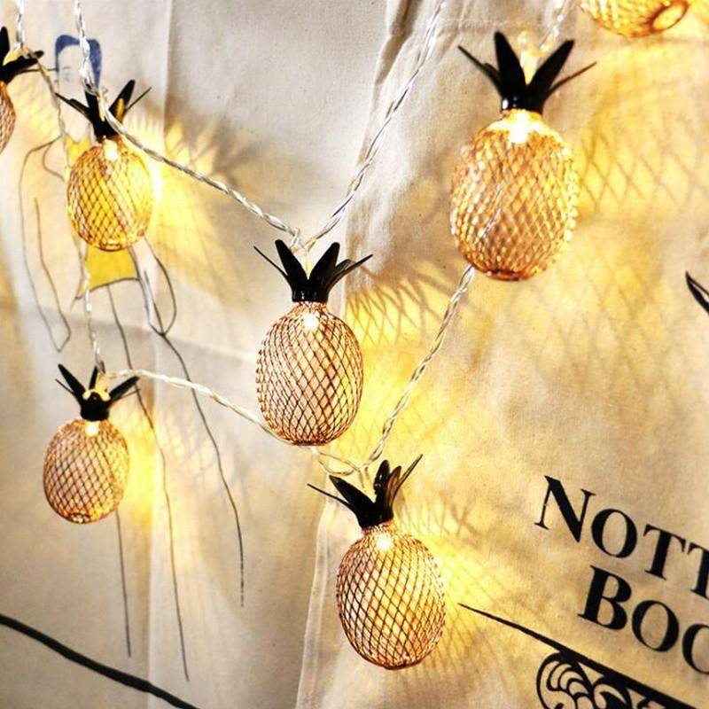 Retro Christmas Light String Pineapple Pineapple Battery LED Fruit Small Lantern Ins Room Bedroom Decoration