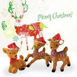 Christmas Ornaments Elk Doll Deer Drop Pendant Xmas Home Decoration For Home Plush Colorful Kids Gift
