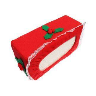 Christmas Tissue Box Cover Paper Towels Case Creative Napkin Holder for Home Christmas Festival Party Decorations