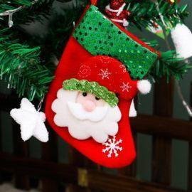 Christmas Tree Decorations Hang Candy Socks Xmas Stockings For Kids Christmas Gift