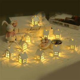 LED Christmas Tree House Style Fairy Light Led String wedding natal Garland New Year christmas decorations for home