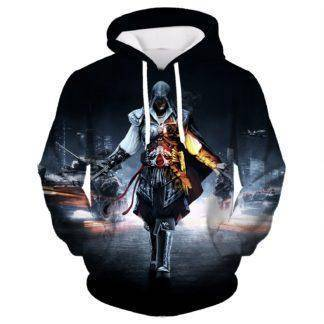 Spring New Fashion Assassins Creed Hoodies Men Zipper Hip Hop Hooded Sweatshirt Casual Costumes Cosplay plus size