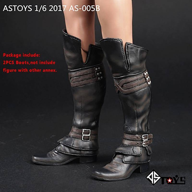 Assassin's Creed Long High Tube AS-005B Black Boots shoes Model with boots
