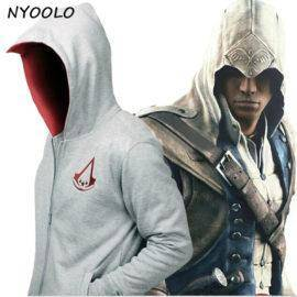 assassins Creed Conner Kenway Hoodie Coat Jacket Men's cosplay costume Clothing overcoat / sweatshirt