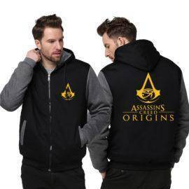 Assassins Creed Origins Hoodies Zipper Jacket Cosplay Bayek Assassins Brotherhood Thicken Coat Hoodie Sweatshirts