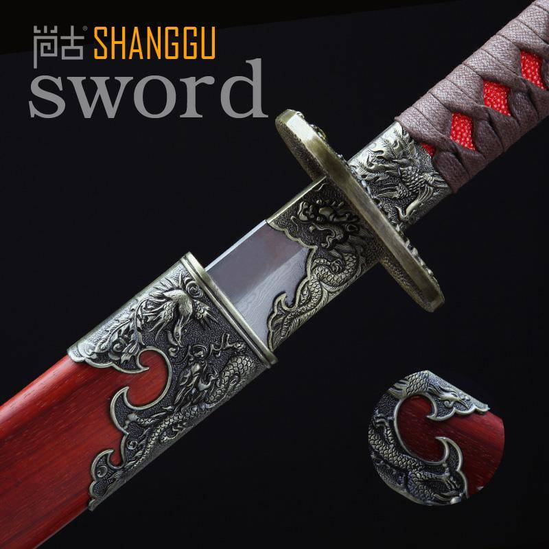 Damascus Steel Swords TV Ancient Chinese Art Collection Knight Cut Horse Knife Upscale Retro Saber