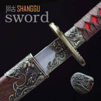 Knife Damascus Ancient Oriental Soldier Weapon Long Knife Movie Roles Sharp Real Sword Military