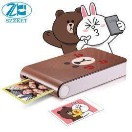 Mobile phone photo printer home wireless portable mini pocket photo printer without ink photo printer